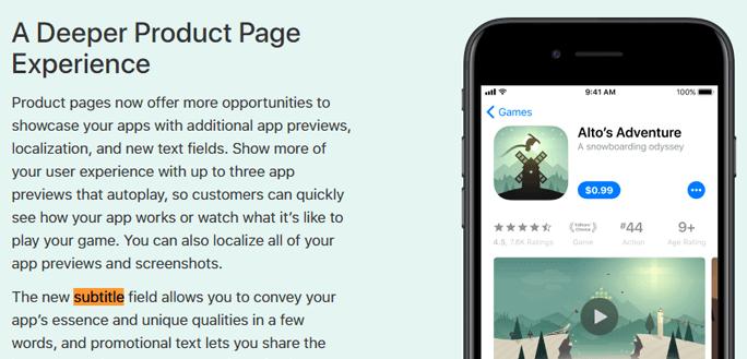ASO App Storeのテキストに関するAppleの説明